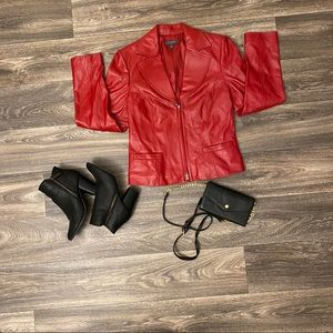 Classiques Entier Red 100% Leather Jacket